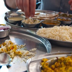Thali und Bhurji im Midtown Restaurant, Jodhpur  Ariane Bille
